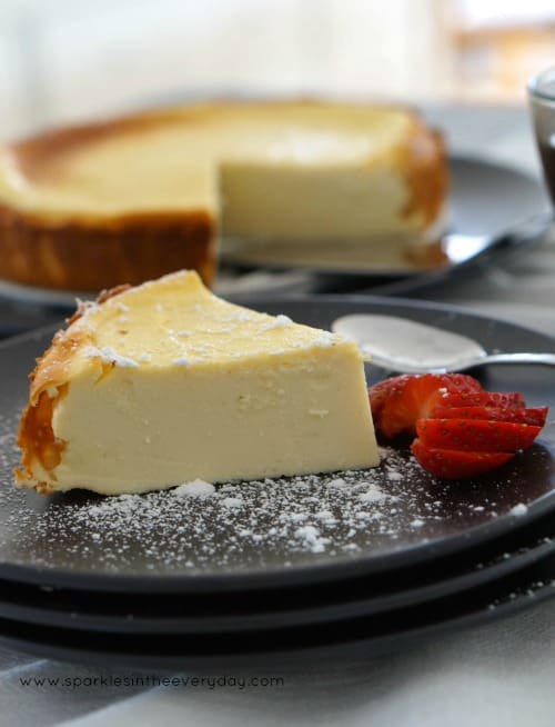 Smooth, Creamy Baked Apricot Ricotta Cheesecake recipe!