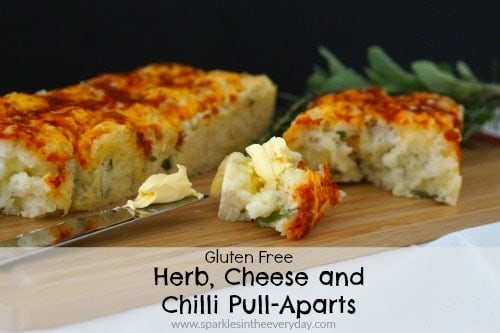 Gluten Free Herb, Cheese and Chilli Pull-Apart!