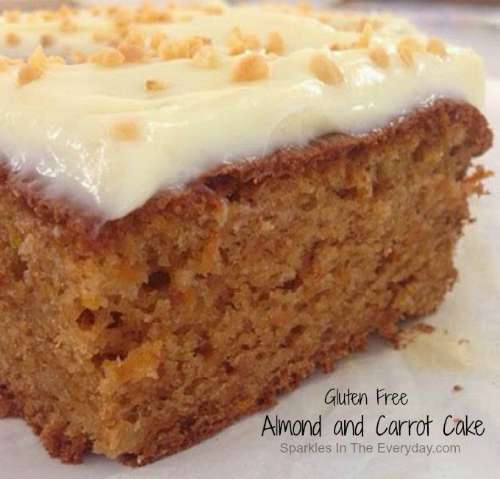 Almond and Carrot Cake-Gluten Free Too!!
