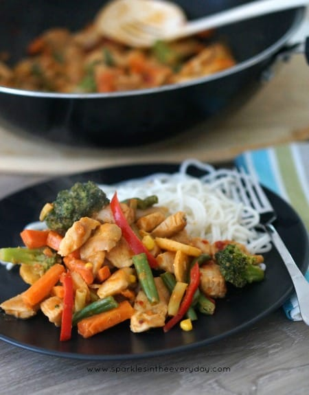 Everyday Meal - Stir-fry with Easy Peanut Sauce Recipe!