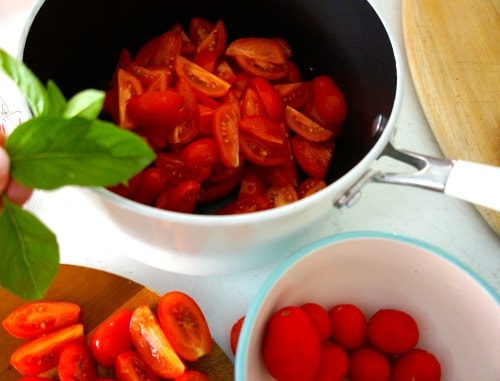 Tomatoes ready to make Old Fashioned Tomato Relish - Gluten Free