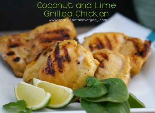 Delicious and easy Coconut and Lime Grilled Chicken - GF!!