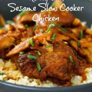 Gluten Free Honey and Sesame Slow Cooker Chicken!
