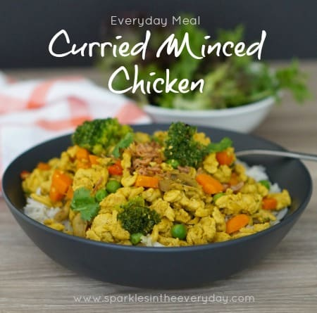 Curried Minced Chicken - Easy and Gluten Free!!