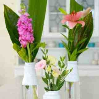 DIY – How to Recycle Bottles to Beautiful Flower Vases!