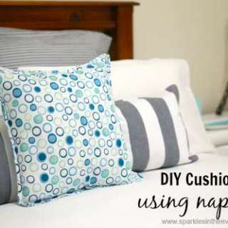 How to make cushions using napkins and placemats!!