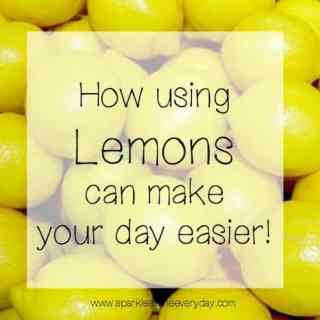 How using Lemons can make your day easier!