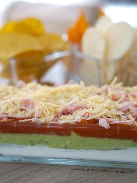 Easy Entertaining idea Gluten Free 5 Layer Dip recipe!