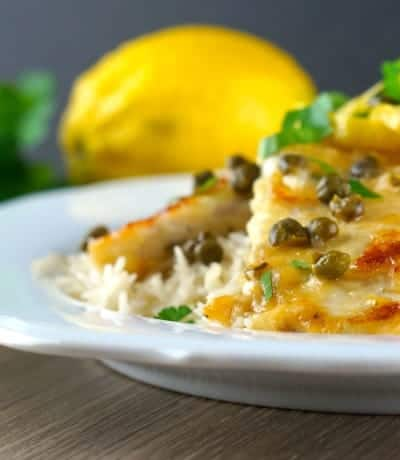 Gluten Free Lemon Chicken Piccata...ready to eat!!