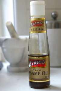 Sesame oil for Easy Gluten Free Fried Rice!