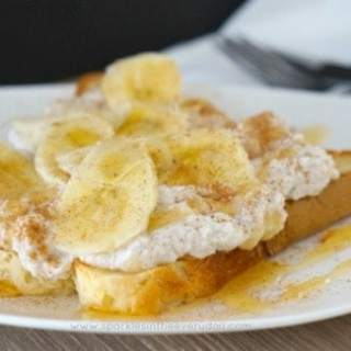 Healthy Ricotta, Honey and Banana on Toast!