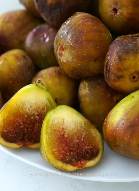 Fresh Figs for baking into Fresh Fig and Pecan Loaf!
