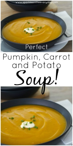 Perfect Pumpkin, Carrot and Potato Soup Recipe! (GF)