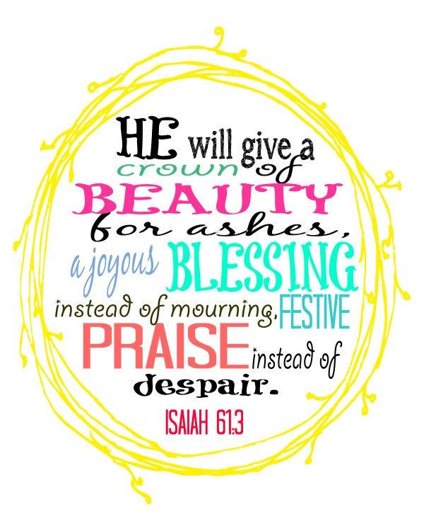 FREE PRINTABLE - Isaiah 61:3