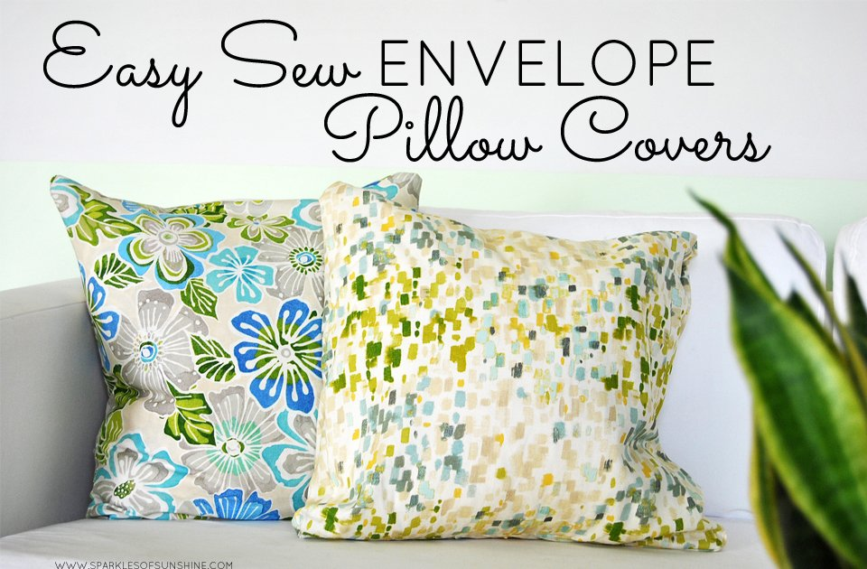 easy sew envelope pillow covers