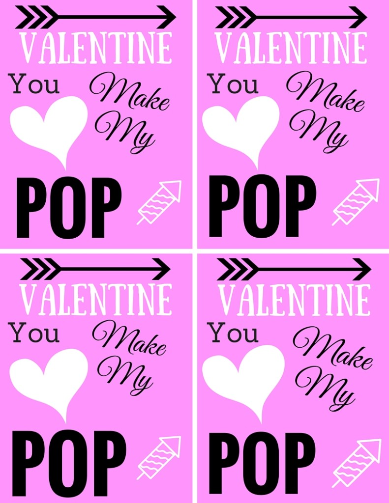 picture regarding You Make My Heart Pop Valentine Printable named Valentines Working day: Your self Create My Centre Pop Printable - Glints