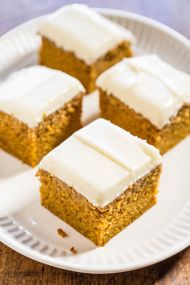 Pumpkin Spice Pound Cake With Cream Cheese Frosting