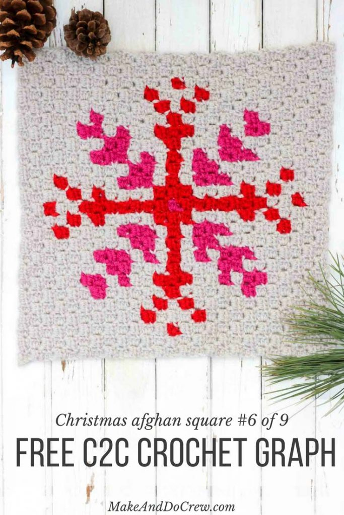 corner-to-corner-crochet-christmas-afghan-snowflake
