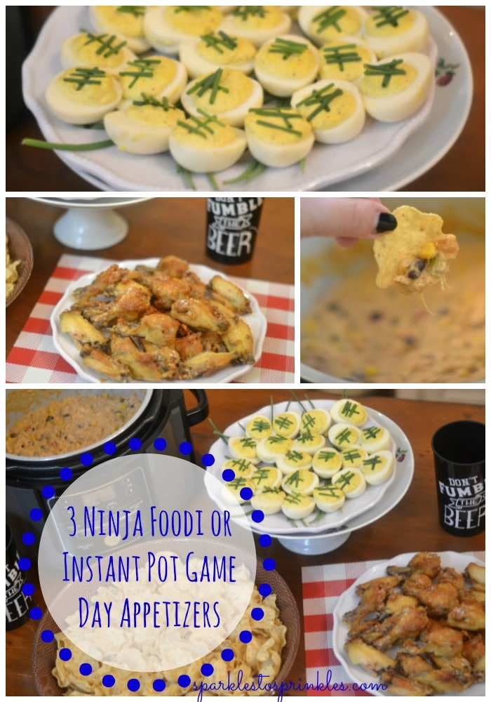3 Ninja Foodi or Instant Pot Game Day Appetizers