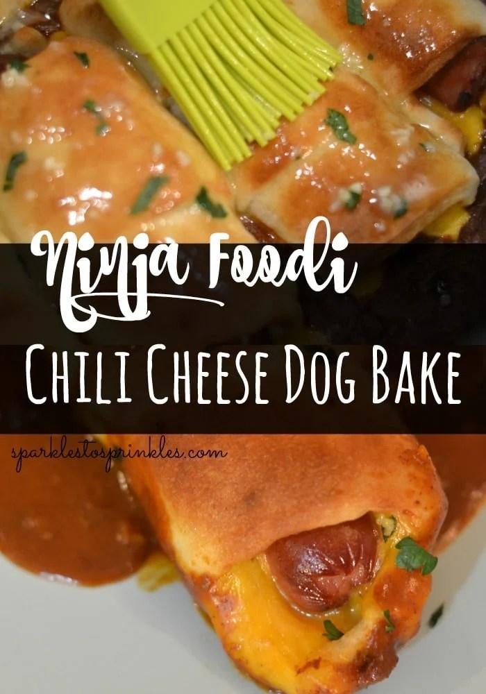 Ninja Foodi Chili Cheese Dog Bake