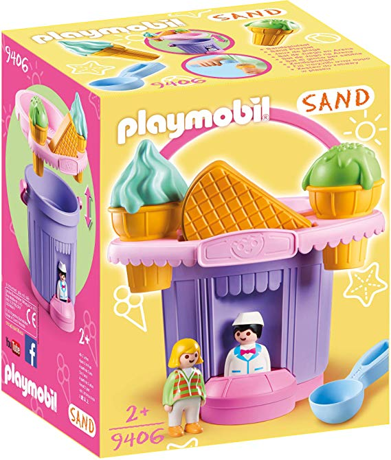 PLAYMOBIL® 9406 Ice Cream Shop Sand Bucket, Multicolor