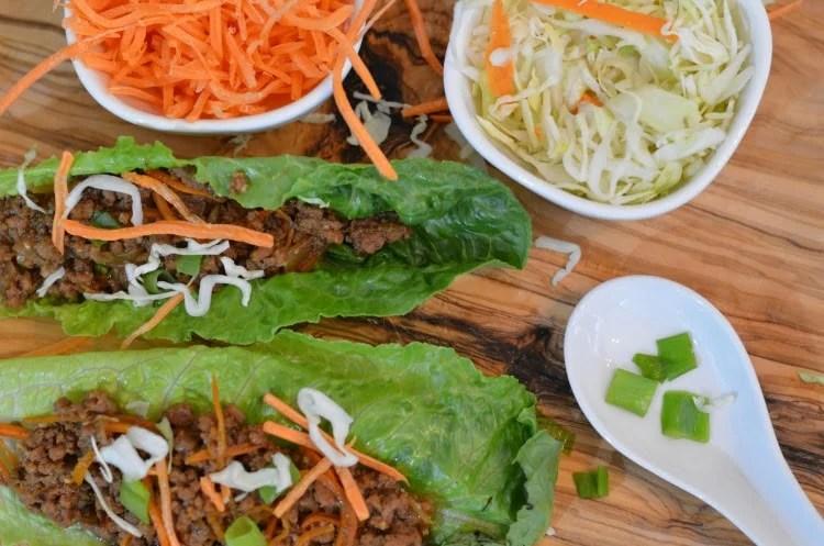 Instant Pot Asian Beef Lettuce Wraps