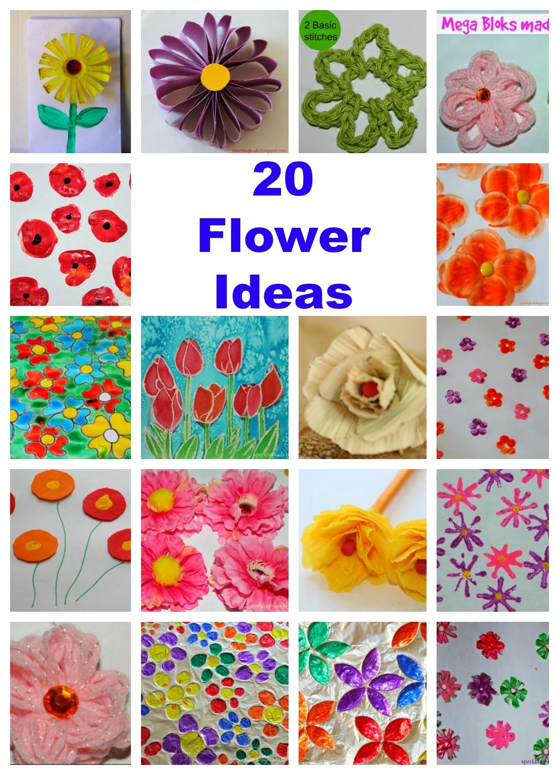 20 Flower Crafts Ideas For Kids