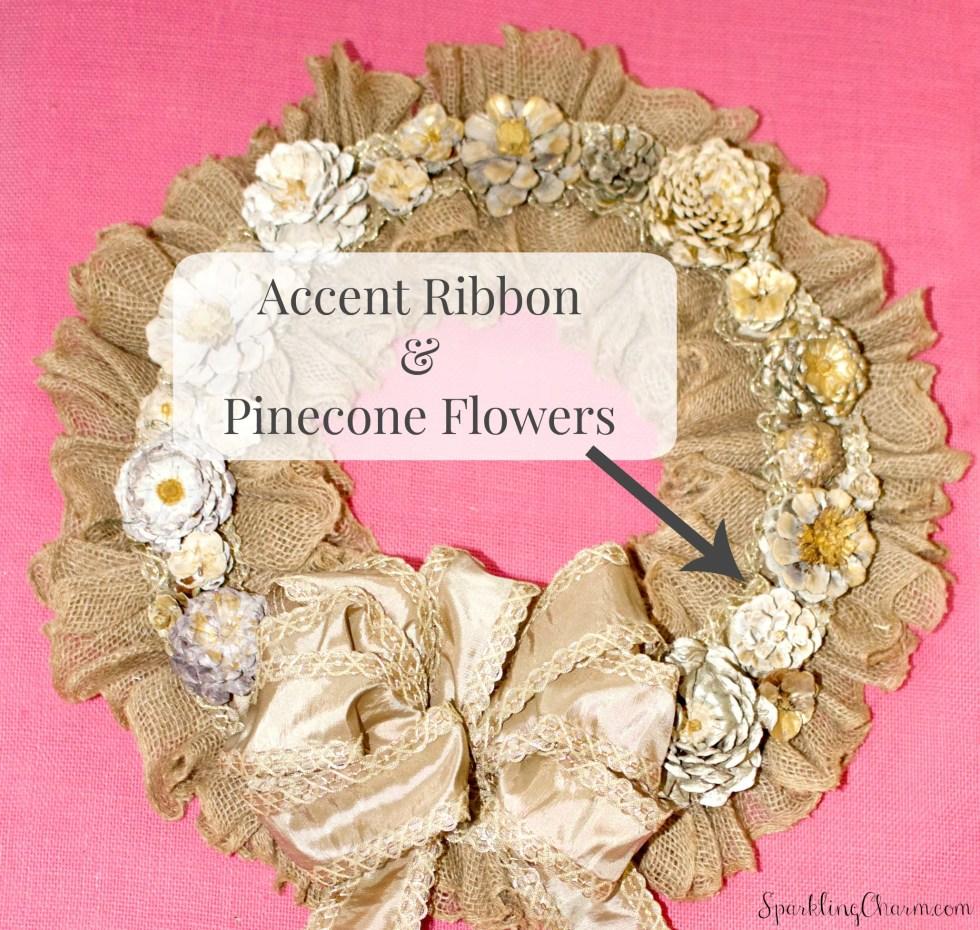 DIY Pinecone Flower Wreath