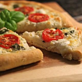 Creamy Caprese Pizza