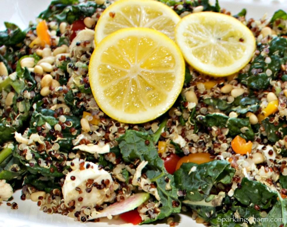Zesty Chicken, Kale, and Quinoa Salad