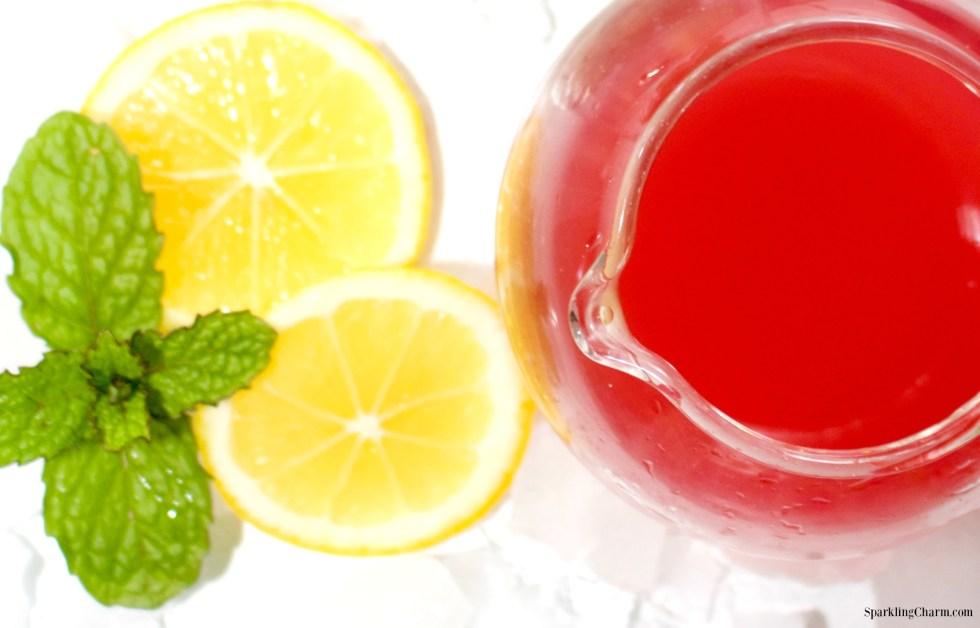 Lemon Rhubarb Mojito