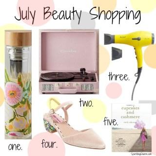 July Beauty Shopping
