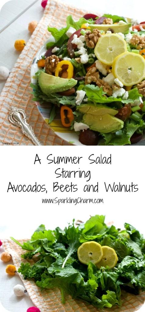 A Summer Salad: Starring Avocado, Walnuts, and Beets
