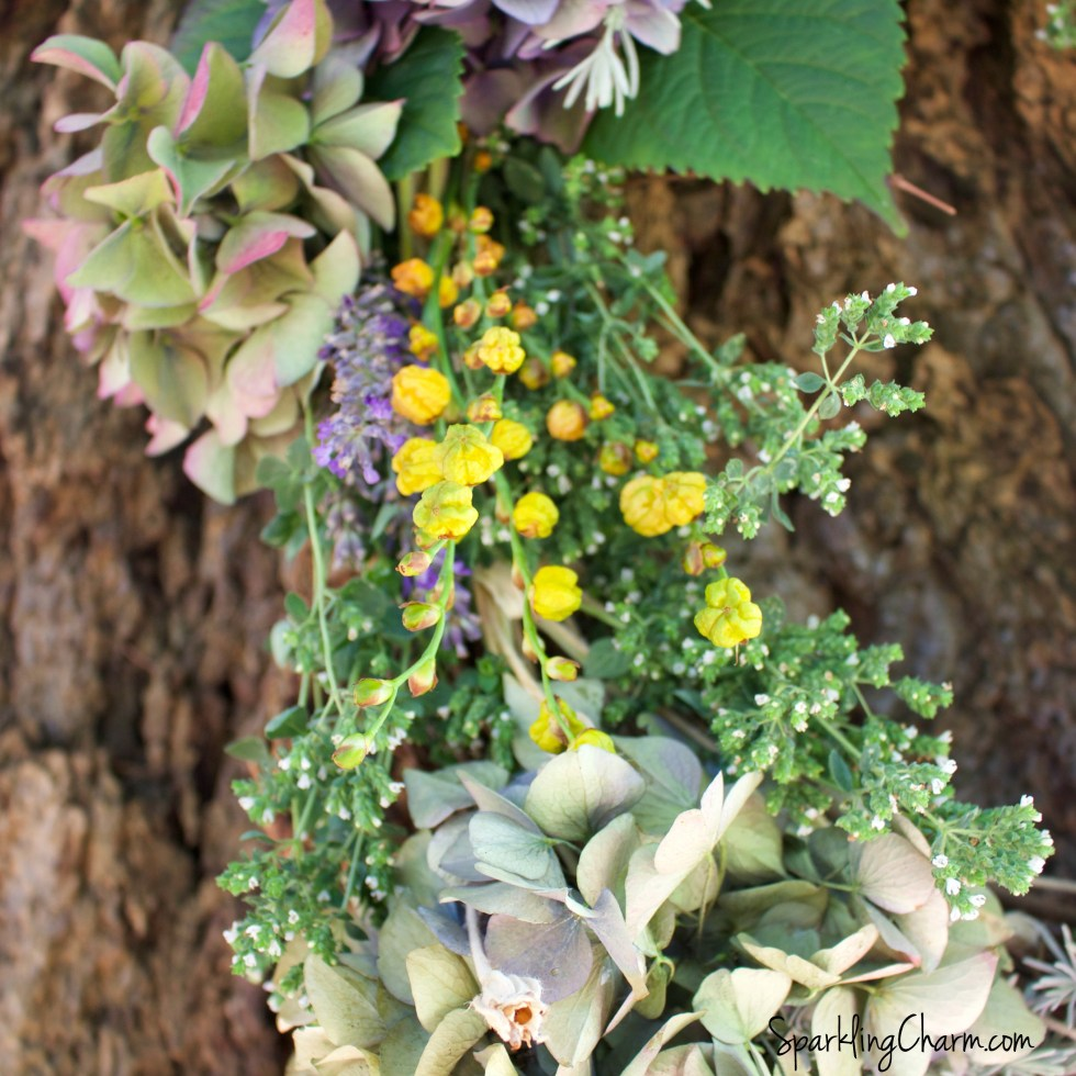 A Simple Yard Wreath: Twigs, Herbs, and Blooms