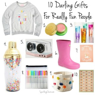 8 Darling Gift Ideas for Really Fun People