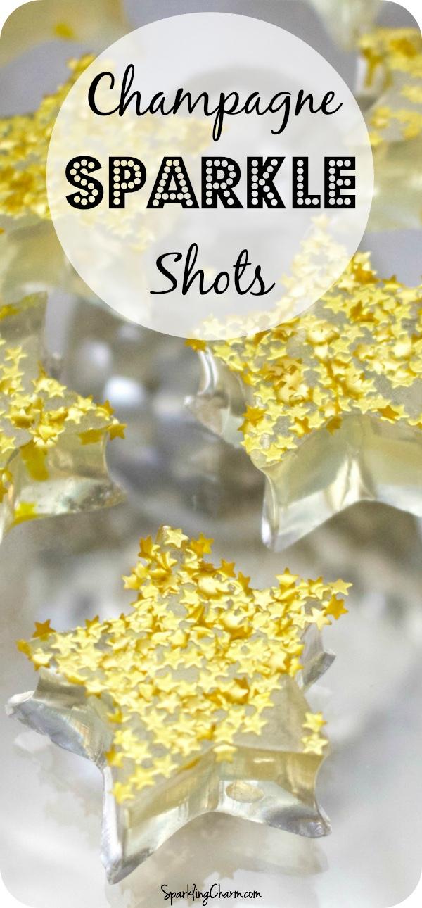Champagne Jello Sparkle Shots