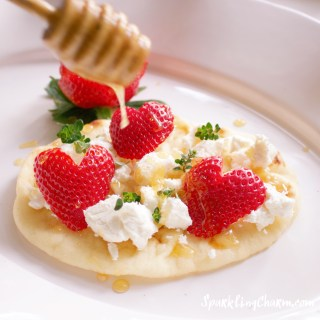 Strawberries & Honey Thyme  Goat Cheese Naan