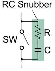 Transistor switch snubber