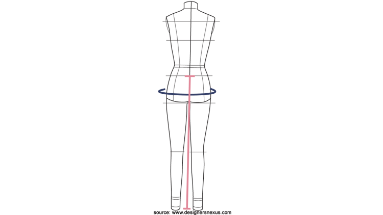 Take measurements for circle skirt pattern making