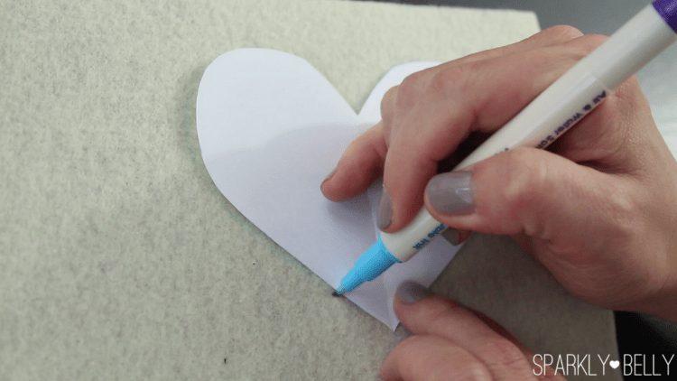 Trace heart pattern for applique making