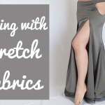 3 Tricks for sewing stretch fabrics and avoiding uneven skirt hem