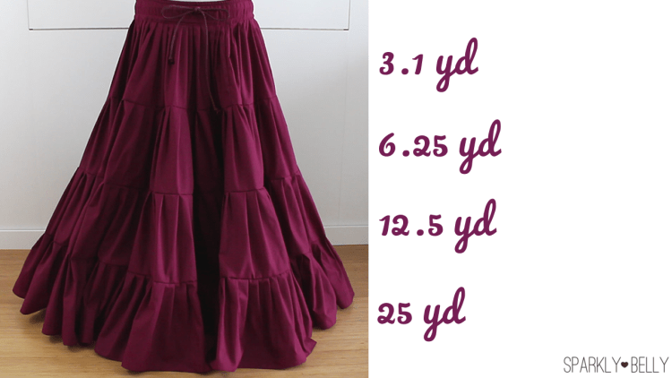 DIY 25 yard skirt - gypsy, ATS belly dance tiered skirt