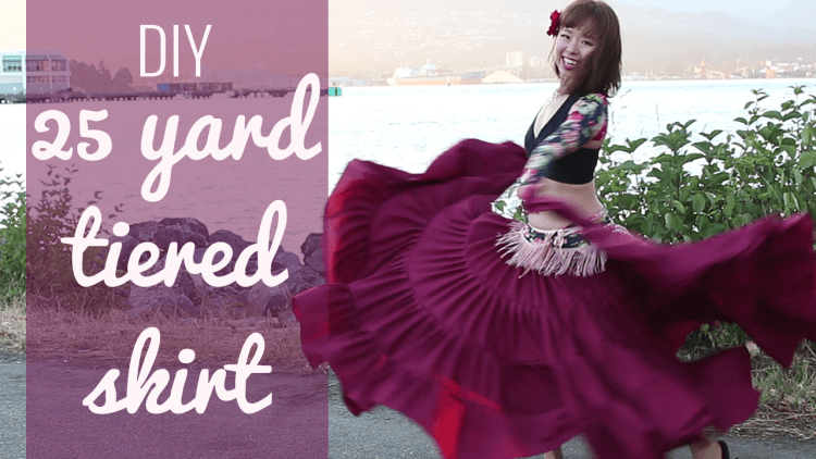 DIY 25 yard skirt - gypsy, atm, belly dance