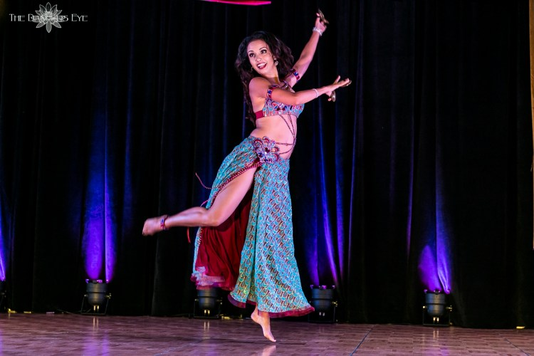 Sahira turquoise costume with zills