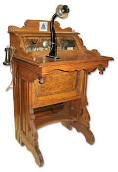 Cabinet Desk Phone Western Electric ca. 1890s