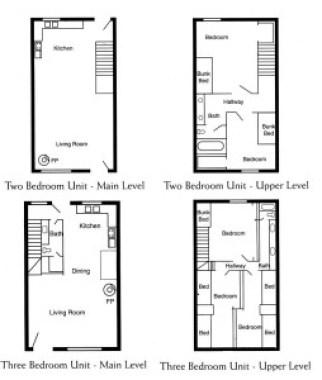 floor plan 2 bed main level