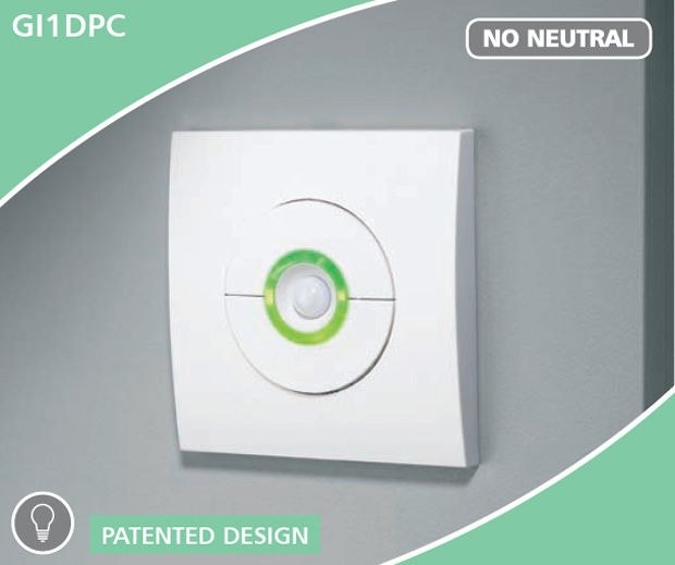 The CP Electronics Green-I GI1DPC dimmer with presence detection(PIR dimmer switch) - the device