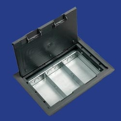 New 3 compartment floor box raised floorbox with three for 1 compartment floor box