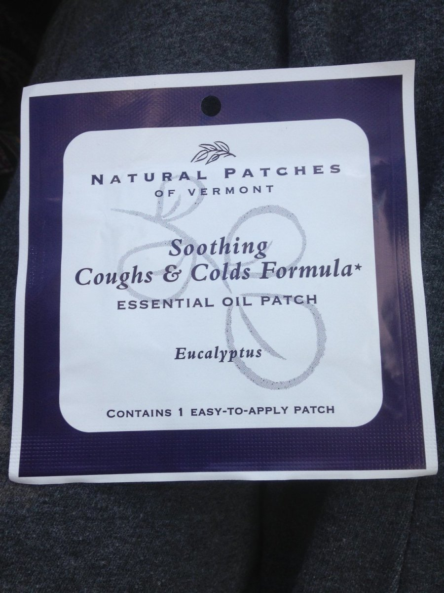 Soothing Coughs And Colds Formula Healing Infused Essential Oil Patches
