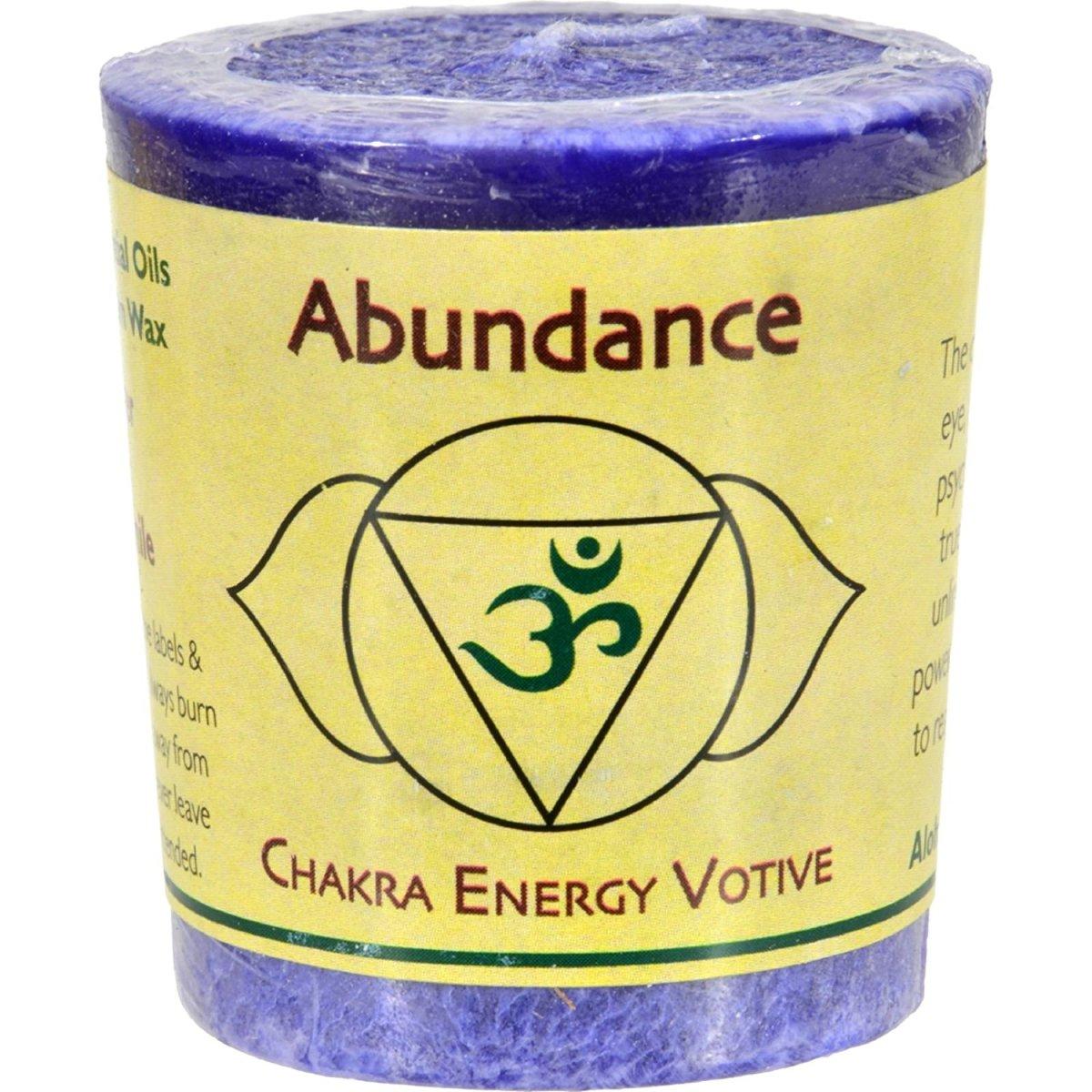 Abundance energy votive with activation
